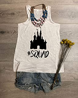 Castle Squad. Disney Squad Team. Bella Canvas Flowy Tank. Hand Screen Printed With Eco Ink. Women's Eco Tri-Blend Tanks. Women Clothing. Mother's Day Gift.