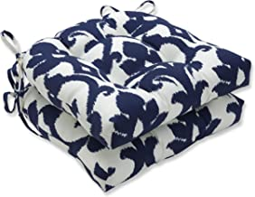 Pillow Perfect Outdoor | Indoor Basalto Navy 16.5 Inch Throw Pillow, 16.5 X 16.5 X 5, Blue