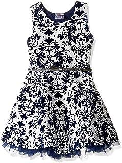 فستان متزلج بكشكشة مزين بالزهور للفتيات الصغيرات من Beautees
