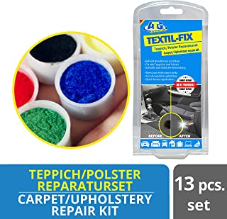 comprar comparacion ATG Set reparación de tapicería y alfombras para tapizar rajaduras Agujeros Cortes Accesorios Coche 13 Piezas