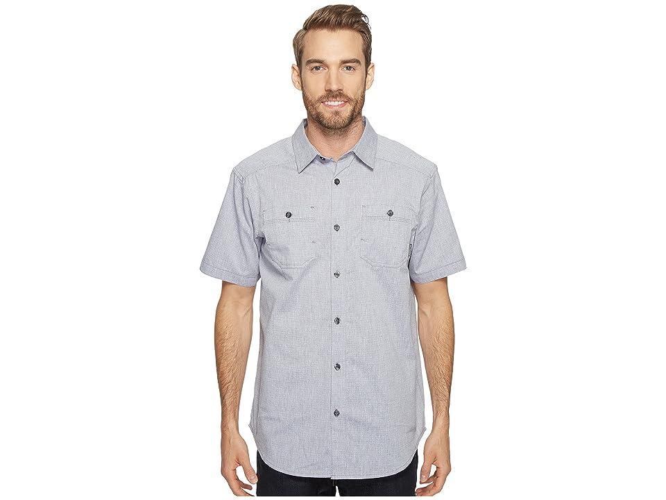 Columbia Sage Butte Short Sleeve Shirt (Granite Purple Stripe) Men