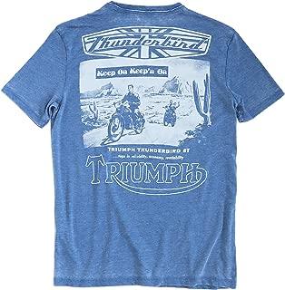 Lucky Brand Men's Burnout Triumph Thunderbird 6T Motorcycle Tee