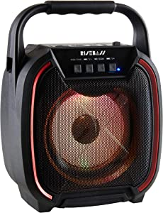Portable Wireless Bluetooth Speaker with TWS Function - Rechargeable Bluetooth Speaker for iPhone, Android, iPod and More - Mini Speaker with Party Lights for Indoor and Outdoor Use.