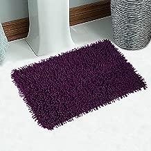 Saral Home Soft Cotton Anti Slip Saggy Bathmat (Purple, 40x60cm)