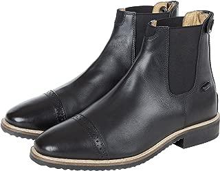 Black Leather Zipper Paddock Boots