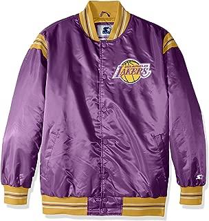 Starter Adult Men The Enforcer Retro Satin Jacket, Purple, 5X