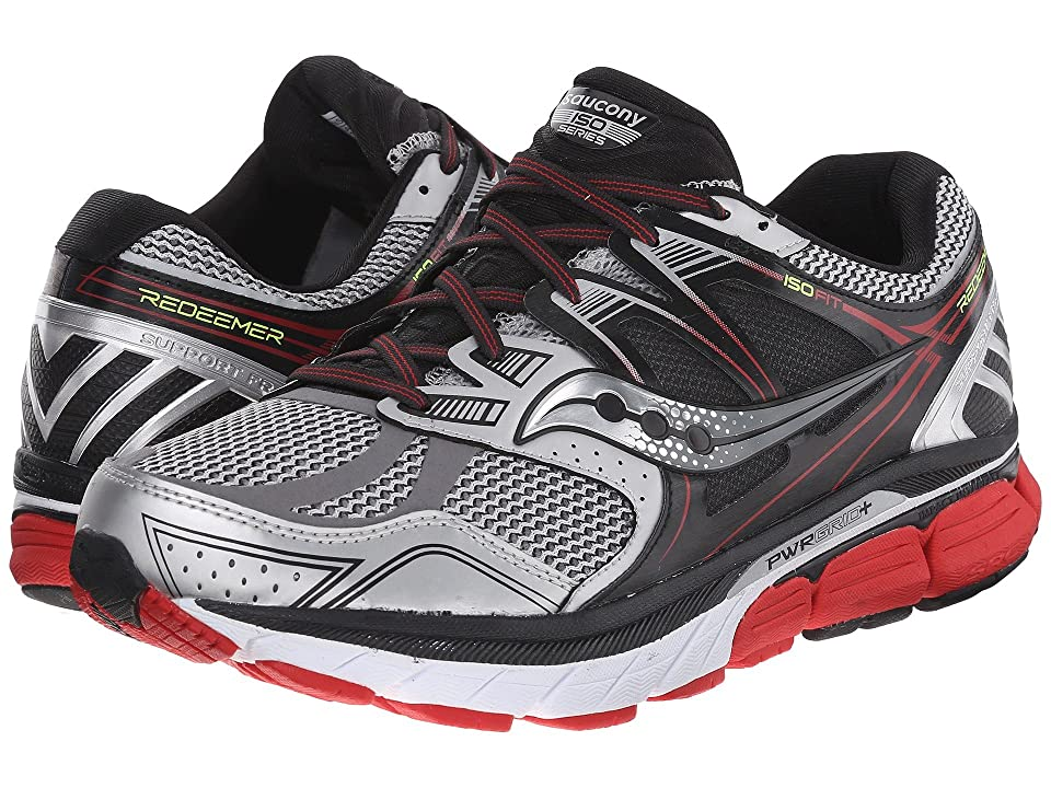 Saucony Redeemer (Silver/Black/Red) Men
