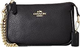 COACH Pebble Leather Small Wristlet 15,IM/Black