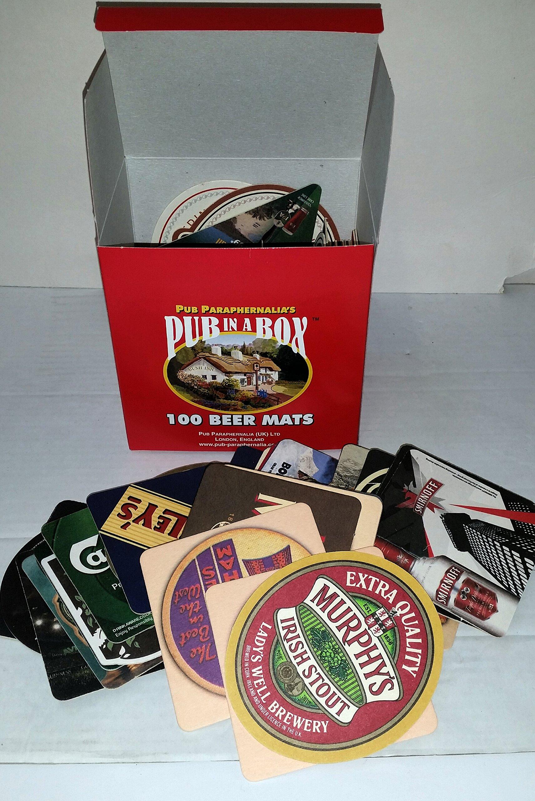 Compra 100 juego de posavasos para cerveza en caja regalo de ...