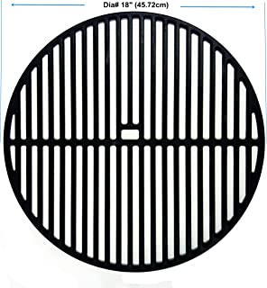 BBQSTAR Grill Grate 18-inch Round Matte Cast-Iron Cooking Grate for Large Big Green Egg, Vision, Kamado Joe Classic Series Charcial Grills