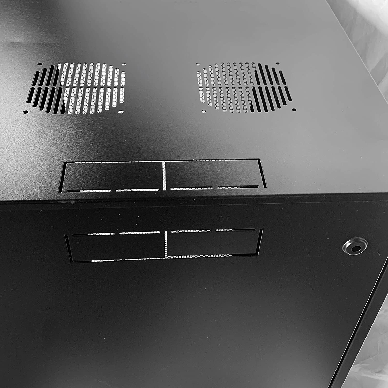 RAISING ELECTRONICS 15U Wall Mount Network Server Cabinet Rack Enclosure Glass Door Lock(15U)
