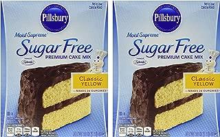 Pillsbury Moist Supreme Sugar Free Classic Yellow Premium Cake Mix (Pack of 2)