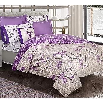 Primor Casa Micromink Magic Unicorn Sherpa Blanket Ultra Soft Throw Oversize for Girls//Kids Full//Twin Size Ultra Warm Rainbows /& Stars Purple Color Tones