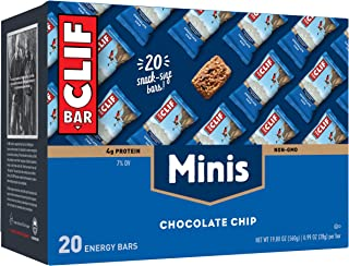CLIF BARS - Mini Energy Bars - Chocolate Chip - Made with Organic Oats - Plant Based Food - Vegetarian - Kosher (0.99 Ounc...