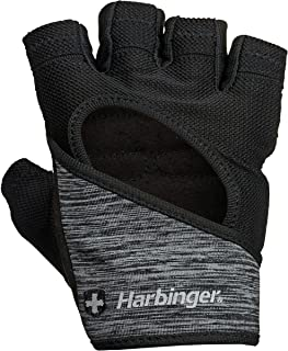 Harbinger Women's FlexFit Wash and Dry Weightlifting Gloves with Padded Leather Palm (1 Pair)