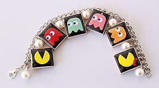 Pac-Man & Mrs. Pac-Man Inspired Scrabble Tile Charm Bracelet