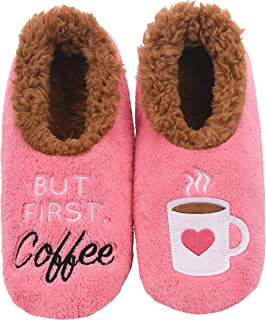 Pairables Womens Slippers - House Slippers - But First Coffee