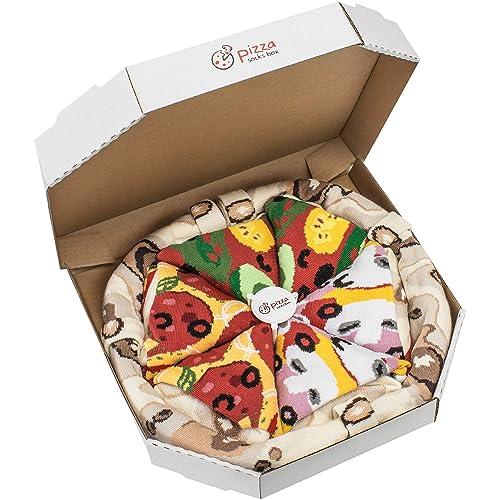 Rainbow Socks - Pizza MIX Caprichosa Vege Pepperoni Mujer Hombre - 4 pares de Calcetines