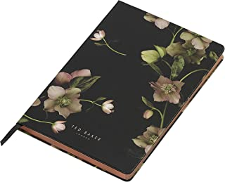 Ted Baker Soft Touch Arboretum Floral 192 Lined Page A5 Notebook, Black (ATED514)