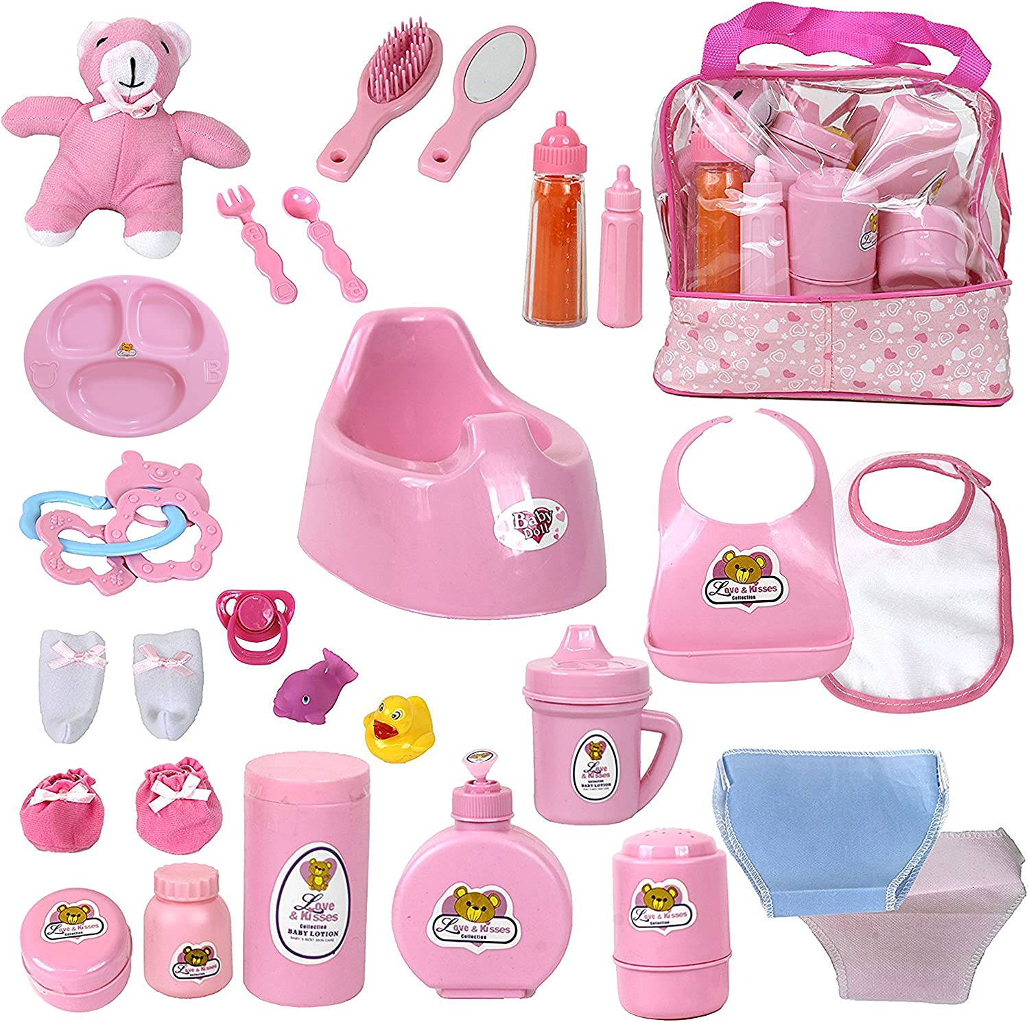 Mommy Me Baby Choice Doll Feeding Incl Changing and Accessories Free shipping anywhere in the nation Set