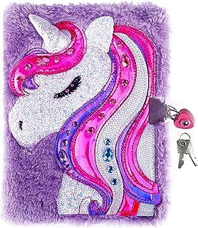 دفتر خاطرات با قفل برای دختران ، مجله Unicorn ، دفتر مجله Magic Travel Journal برای بزرگسالان و کودکان ، یک قفل به شکل قلب و 2 کلید برای شکرگذاری
