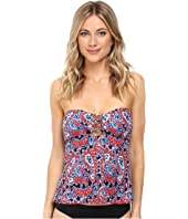 MICHAEL Michael Kors - Angelina Open Back Lace-Up Bandini Top