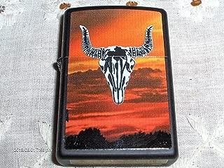Zippo Western Bull Skull and Sunset Lighter