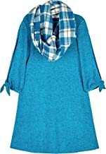 Amy Byer Girls' 7-16 Long Sleeve Dress with Scarf