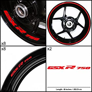 Stickman Vinyls Motorcycle Decal Reflective Red Graphic Kit For Suzuki GSXR 750