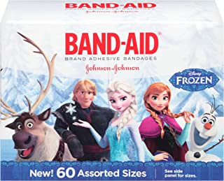 Disney Frozen Adhesive Character Bandages, Assorted Sizes, 60 Count