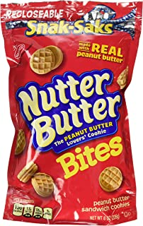 Nabisco, Mini Nutter Butter, Bite Size Snak-Saks, 8oz Bag (Pack of 3)