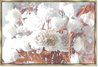 The Oliver Gal Artist Co. Rose Feast' Framed Fashion Wall Decor, 36 x 24, Gold