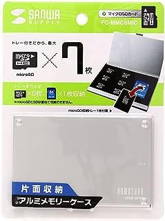 サンワサプライ FC-MMC6MIC 片面収納アルミメモリーケース(microSD用)