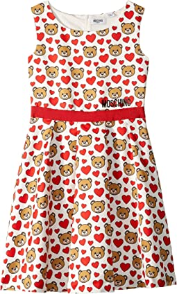 Print Hearts Dress (Big Kids)