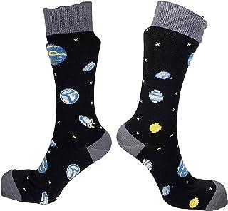 Gift It Right, Regalo De Hacerlo Bien Astronomía Espacial Cobardes Calcetines De Gran Tamaño De Uk 8-11 Eu 41-45 Divertido Calcetines De Hombres De Ciencia Del Sistema Solar Unisex Masculino Y Femenino
