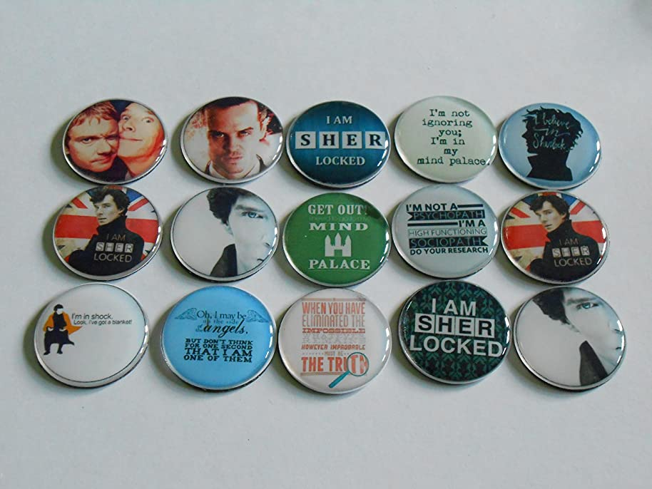 Geocache Swag Refrigerator Magnets - BBC Sherlock Holmes, Moriarty, Mind Palace