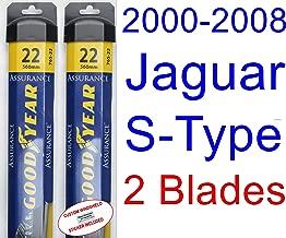 2000-2008 Jaguar S-Type Replacement Wiper Blade Set/Kit (Set of 2 Blades) (Goodyear Wiper Blades-Assurance) (2001,2002,2003,2004,2005,2006,2007)