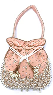 ADORA FASHION INDIAN HANDMADE CLUTCH BAG FOR WOMEN ADORA ACI 100 PINK