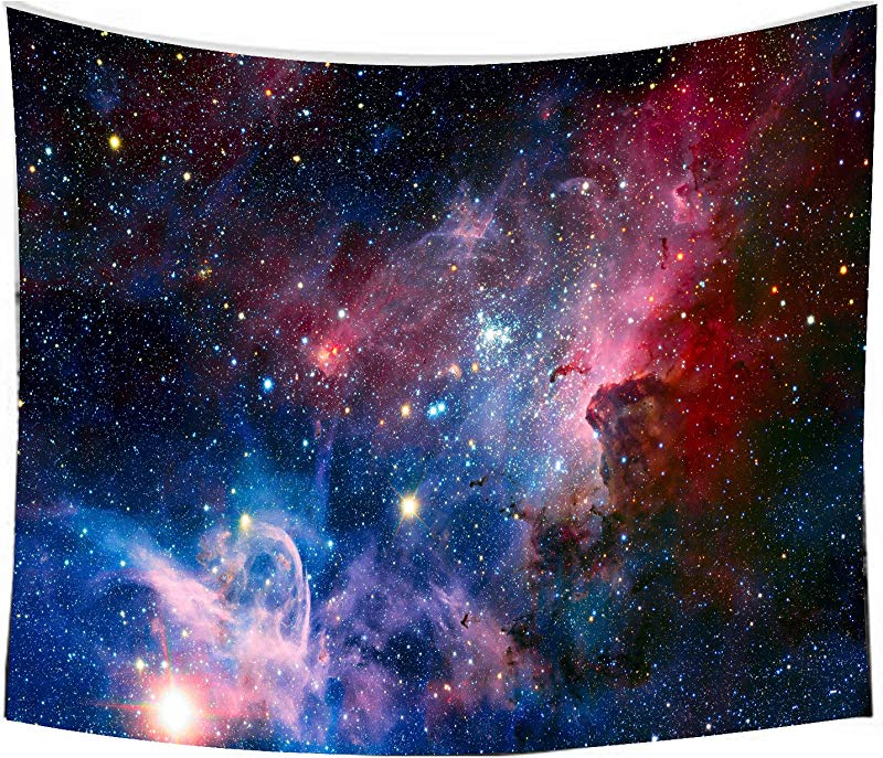 Starry Sky Tapestry Home 3D Cosmic Galaxy Tapestry Living Room Bedroom Decoration Tapestry Mattress Tablecloth 51 2 X59 1 Starry Sky