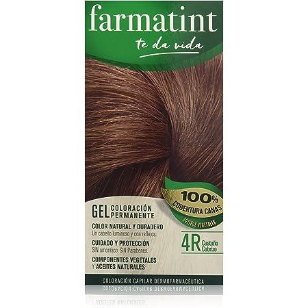 Farmatint Gel 4R Castaño Cobrizo | Color natural y duradero | Componentes vegetales y aceites naturales | Sin amoníaco | Sin Parabenos | ...