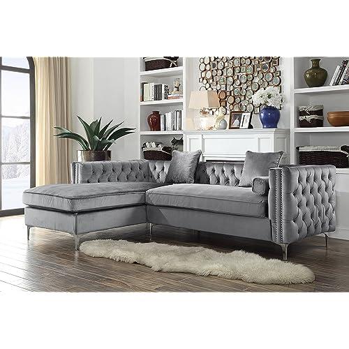 Grey Velvet Sofa: Amazon.com