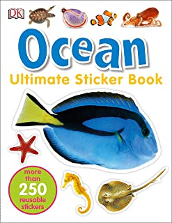 Ultimate Sticker Book: Ocean: More Than 250 Reusable Stickers