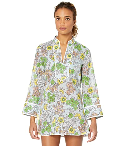 Tory Burch Swimwear Printed Tunic Cover-Up (Blue Wallpaper Floral) Women