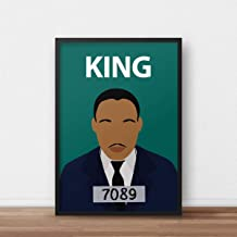Martin Luther King Poster Print // Civil Rights - Black Lives Matter - Inspirational - MLK Day - Wall Art - Colourful - Minimalist - Classroom