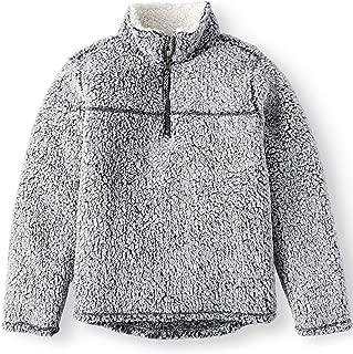 Baby Toddler Boys & Girls Mock Neck Quarter Zip Sherpa Pullover