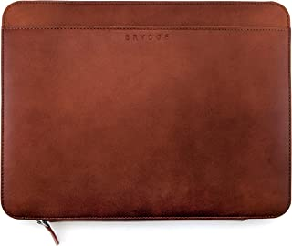 Brydge 13-inch Leather Organizer for iPad Pro 11 & 12.9 | MacBook Pro | Surface Pro | Google Pixelbook | Handcrafted Protective 100% Full-Grain Leather Organizer Case Cover (Brown)