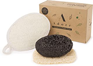 Eco-Friendly Lava Pumice Stone for feet - Callus Remover for feet and hands - Natural Foot Scrubber for Exfoliation to Rem...