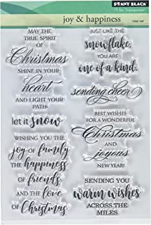 Penny Black Series Clear Stamp Set 30-440 Joy & Happiness