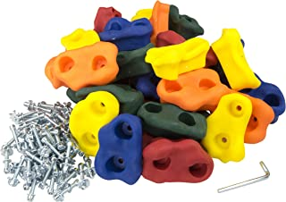 Squirrel Products 20 Large Kids Rock Climbing Holds - with Mounting Hardware for up to 1