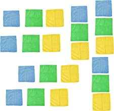 MotRoX Blue,Green & Yellow Microfiber Clothes for Indoor and Outdoor Used - 380 GSM (40 x 40 cm, Pack of 21)